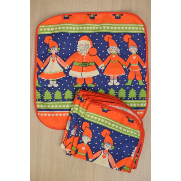 10 jule dækkeservietter